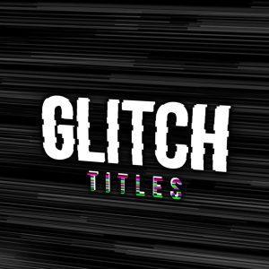 پروژه آماده پریمیر تایتل پارازیت Glitch Titles