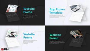 پروژه ی آماده پریمیر معرفی وب سایت